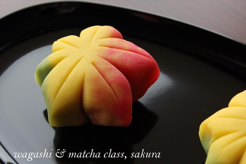 Wagashi&Matcha class, sakura